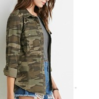 Green Military Outwear