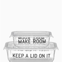 4pc rectangular food storage containers | Kate Spade New York
