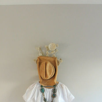 Vintage ruffle blouse, boho chic white off the shoulder shirt, gypsy cowgirl glam, romantic country chic clothing, true rebel clothing