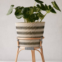 "Bistro 12"" Rattan Planter + Stand 