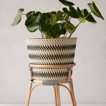 """Bistro 12"""" Rattan Planter + Stand 