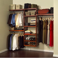 John Louis Deluxe Red Mahogany Closet System   Overstock.com