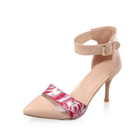 Shoes Heel Print Sandals = 5825182913