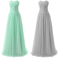 Strapless Knot Front Ruched Pleated Maxi Prom Dress