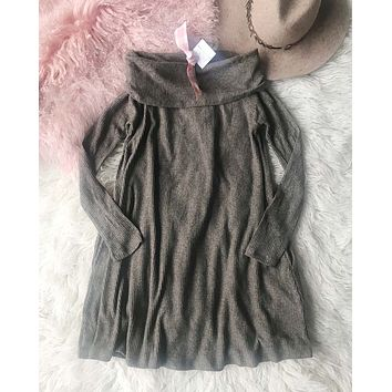 Cozy Thermal Dress in Brown