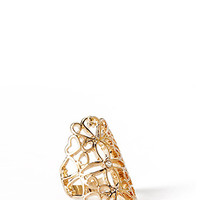 FOREVER 21 Opulent Hour Statement Ring Gold/Clear