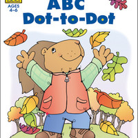preschool workbooks 32 pages-abc dot to dot