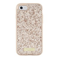 kate spade new york Glitter Case with Bumper Apple iPhone 7 Rose Gold Exposed