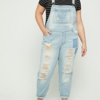 Plus Destroyed & Patched Vintage Overalls