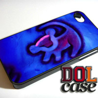 Simba Blue Lion King Hakuna Matata Disney Inspired Cutee iPhone Case Cover|iPhone 4s|iPhone 5s|iPhone 5c|iPhone 6|iPhone 6 Plus|Free Shipping| Consta 395