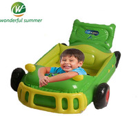 Inflatable Boys Ride On Car Toys Inflated Racing Model For Kids Children Christmas Birthday Gift Party Supplies Air Mattresses