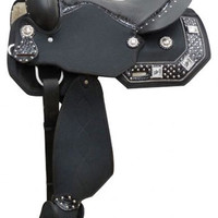 Saddles Tack Horse Supplies - ChickSaddlery.com Double T Synthetic Barrel Saddle With Crystal Accents