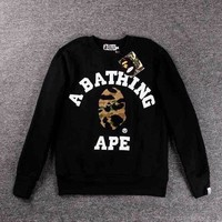 Bape Couples long sleeves round neck