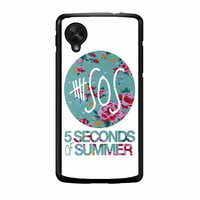 5 Seconds Of Summer Floral Pink Nexus 5 Case