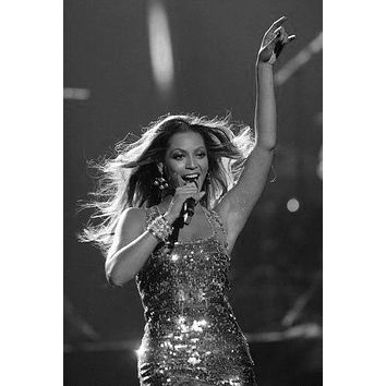 "Beyonce Poster Black and White Mini Poster 11""x17"""