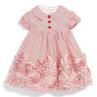 Infant Girl's Biscotti 'Lots of Dots' Cap Sleeve Dress