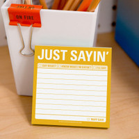 Knock Knock Just Sayin' Sticky Note - Official Shop