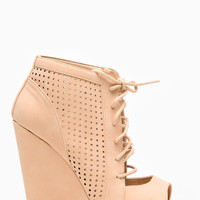 Wild Diva Nude Cut Out Wedges