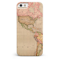 The Eastern World Overview Map iPhone 5/5s or SE INK-Fuzed Case