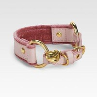 Juicy Couture - Leather & Velvet Dog Collar - Saks.com