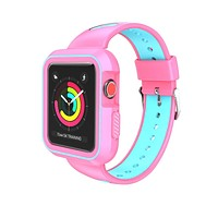 Sport Band with Case for Apple Watch 38mm 42mm,Soft Lightweight Breathable Nylon Sport Loop Replacement Strap for iWatch Apple Watch Series 3,Series 2, Series1,Hermes,Nike+- Pink +Teal