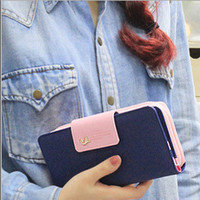 2016 Classic Cute Women's Wallet Button Leather Faux Clutch Lady Purse Long Handbag High Quality Candy Color Card Holder N819