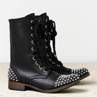 AEO Women's Studded Lace-up Boot (Black)