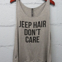 Jeep Hair Don't Care Tank Top (Gray)