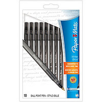 Paper Mate Write Bros. Grip Ballpoint Stick Pens 1.0 mm Medium Point Black Barrel Black Ink Pack Of 10 by Office Depot & OfficeMax