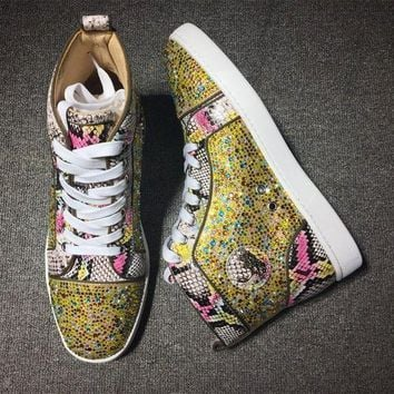 DCCK2 Cl Christian Louboutin Rythinestone Style #1919 Sneakers Fashion Shoes