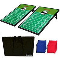 CornHole Bean Bag Toss Game Set - Football