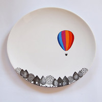 Striped Balloon Porcelain Plate