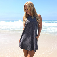 Cruise Along Dress In Grey