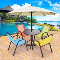 Patio 5PCS Kids Table and Chairs Indoor Dining Set Play Set Children Activity