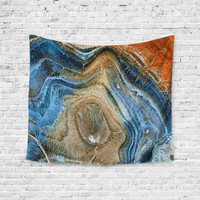 Water Agate Geode Colorful Trendy Boho Wall Art Home Decor Unique Dorm Room Wall Tapestry Artwork