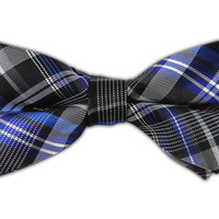 Zenith Plaid - Black (Bow Ties) from TheTieBar.com - Wear Your Good Tie Everyday