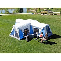 12-16 Person Camping Hiking Outdoor Family Easy Setup Cabin 3 Room 3 Door Tent