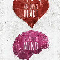 OPEN HEART, OPEN MIND Stretched Canvas by Pixel Pop