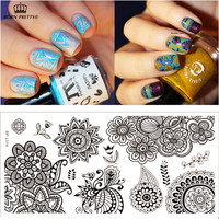 Chic Flower Nail Art Stamp Template Image Plate BORN PRETTY BP-L014 12.5 x 6.5cm