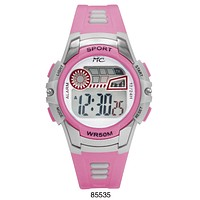 Montres Carlos 5 ATM Light Pink Digital Sports Watch
