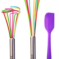 Make Baking Fun: Bring Tornado Whisks into Your Kitchen - Nonstick Silicone Whisk Set Guaranteed to Never Damage Your Pots Pans and Delicate Cookware ...