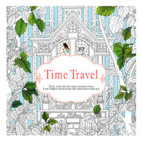 24 Pages English Time Travel Edition Coloring Book For Children Adult Relieve Stress Kill Time Graffiti Painting Drawing Books