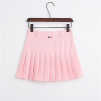 Women Tennis Skirt Pleated Quick Dry Running Sports Skirt School Breathable Badminton Skorts With Safety Pants Sports Clothing