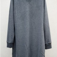 Sweatshirt Dress — Anthracite by Closed at HEIST