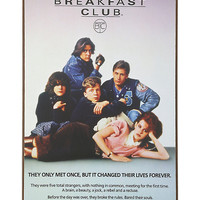 The Breakfast Club Wood Poster