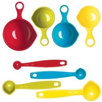 Colorful Measuring Cup & Spoon Set