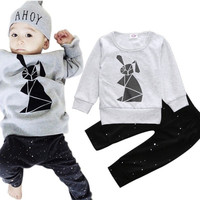 2pcs/set Baby Clothing Sets Baby Boy Cotton Baby Household Baby Girl Clothes Spring Autumn