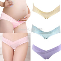 Pregnant Women Maternity Underwear Shorts Panties Comfy Cotton Solid Low Rise Briefs
