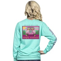 "Simply Southern ""Jeep Hair"" Long Sleeve Tee SALE"