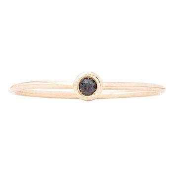 Birth Jewel Stacking Ring With Alexandrite